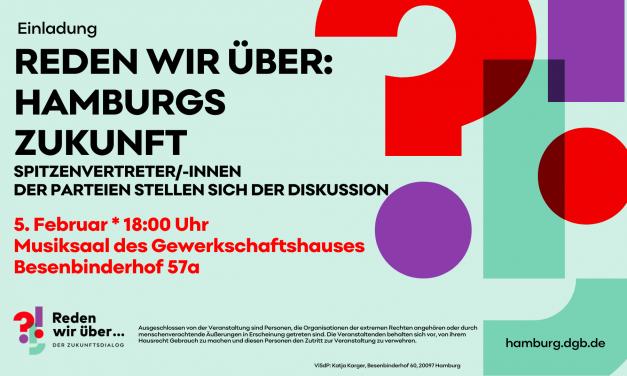 Deutscher Gewerkschaftsbund (DGB) – Diskussion zur Bürgerschaftswahl mit Spitzenkandidat/-innen der Parteien